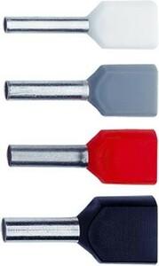Klauke Zwillings-Aderendhülse 2x10qmm rot isol. 876/14 (100 Stück)