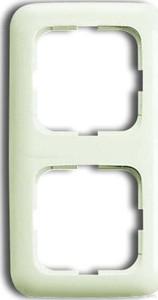 Busch-Jaeger Rahmen 2-fach cremeweiß (ws) senkr. und waagerecht 2512-212