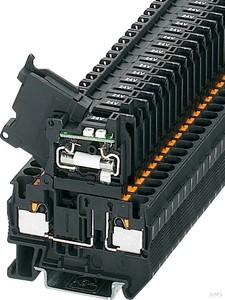 Phoenix Contact Sicherungsreihenklemme 0,2-6qmm,6,3A 30V,sw PT4-HESILED 24(5x20)
