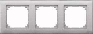Merten Rahmen 3-fach aluminium waage/senkrecht 486360