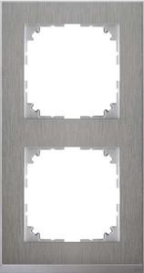 Merten Decor-Rahmen 2-fach Edelstahl/aluminium MEG4020-3646