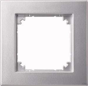 Merten Rahmen 1-fach aluminium 486160