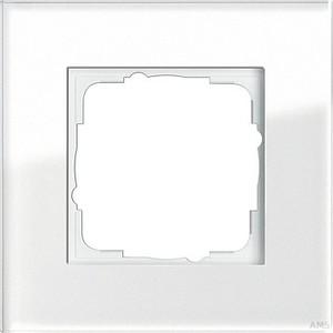 Gira 021112 Abdeckrahmen 1fach Esprit Glas Weiß