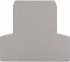 WAGO Abschlußplatte grau 281-311