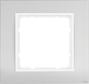 Berker Rahmen 1-fach aluminium polarweiß (pws) 10113904