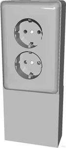 Elso Geräteträger mit 2-fach Steckdose 515500