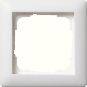 Gira 021104 Abdeckrahmen 1fach Standard 55 Reinweiß matt