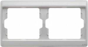 Berker Rahmen 2-fach polarweiß/glänzend 13630069