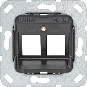 Gira 560200 Modular Jack 2 2fach Tragring