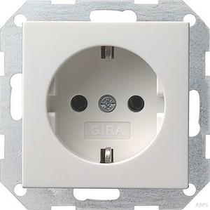Gira 018803 SCHUKO Steckdose System 55 Reinweiß glänzend