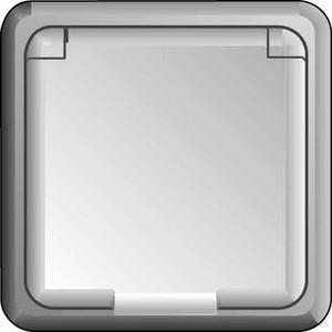 Elso UP-Steckdose IP44, Schraub klemme, perlweiß 235040