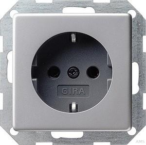 Gira 0453203 SCHUKO Steckdose mit Kinderschutz E22 Aluminium