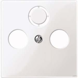 Merten Zentralplatte polarweiß/glänzend für Antennendose 296719