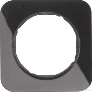 Berker Rahmen sw/glänzend 1fach, rund 10112145