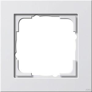 Gira 021122 Abdeckrahmen 1fach E2 Reinweiß matt