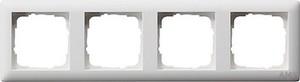 Gira 021404 Abdeckrahmen 4fach Standard 55 Reinweiß matt