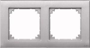 Merten Rahmen 2-fach aluminium waage/senkrecht 486260