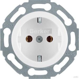 Berker Steckdose polarweiß/glänzend 1-fach 4755