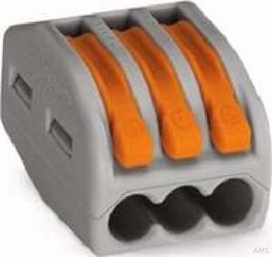 WAGO Verbindungsklemme 3x0,08-4qmm grau 222-413 (50 Stück)