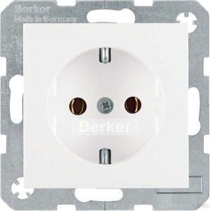 Berker Schuko-Steckdose polarweiß (pws) mit Steckklemmen 47431909