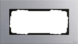 Gira 100217 Abdeckrahmen 2fach ohne Mittelsteg Esprit Aluminium