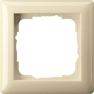 Gira 021101 Abdeckrahmen 1fach Standard 55 Cremeweiß glänzend