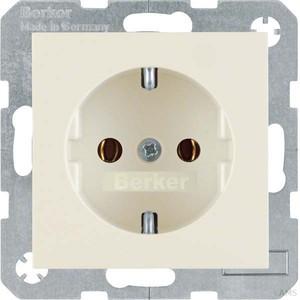 Berker SCHUKO-Steckdose ws/glänzend 47438982