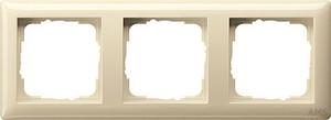 Gira 021301 Abdeckrahmen 3fach Standard 55 Cremeweiß glänzend