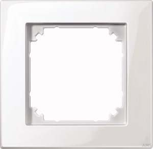 Merten M-PLAN-Rahmen 1-fach polarweiß/glänzend 515119