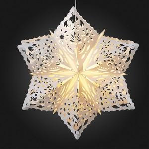 Hellum LED-Outdoor-Stern weiß 56 cm Schneeflocke 577792