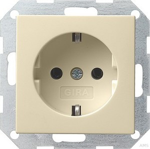 Gira 018801 SCHUKO Steckdose System 55 Cremeweiß glänzend