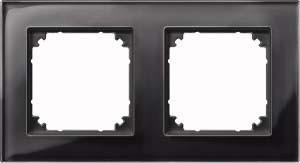 Merten Rahmen Glas 2-fach on/sw waage/senkrecht 489203