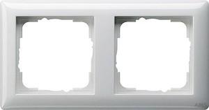 Gira 021203 Abdeckrahmen 2fach Standard 55 Reinweiß glänzend