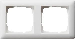 Gira 021204 Abdeckrahmen 2fach Standard 55 Reinweiß matt