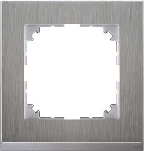 Merten Decor-Rahmen 1-fach Edelstahl/aluminium MEG4010-3646