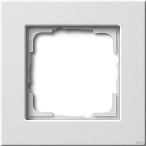 Gira 0211204 Abdeckrahmen 1fach flache Montageart E22 Reinweiß glänzend