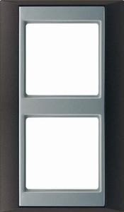 Jung Rahmen 2-fach anthrazit aluminium waage/senkrecht AP 582 ANT AL