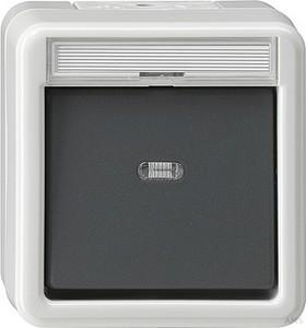 Gira 015230 Wipptaster mit Meldekontakt wassergeschützt Aufputz Grau