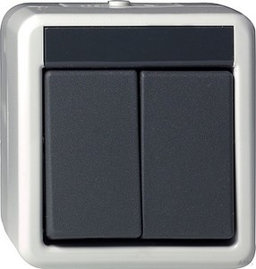 Gira 015530 Wipptaster Serien wassergeschützt Aufputz Grau