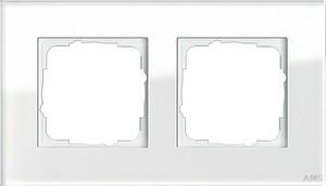 Gira 021212 Abdeckrahmen 2fach Esprit Glas Weiß