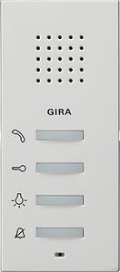 Gira 125027 Wohnungsstation aufputz System 55 Reinweiß matt