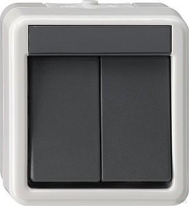 Gira 010530 Wippschalter Serien wassergeschützt Aufputz Grau