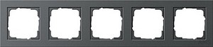 Gira 021523 Abdeckrahmen 5fach E2 Anthrazit