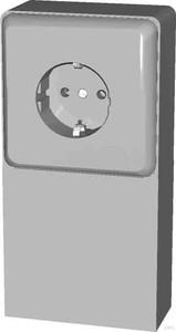 Elso Geräteträger mit 1-fach Steckdose 515100