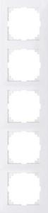 Merten Rahmen 5fach polarweiß MEG4050-3619