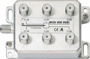 Wisi Verteiler 6-fach 5-1000MHz, 10dB DM 06 B