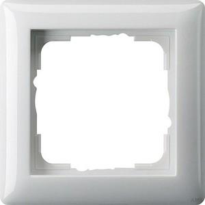Gira 021103 Abdeckrahmen 1fach Standard 55 Reinweiß glänzend