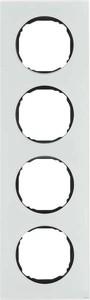 Berker Rahmen 4-fach flach Glas polarweiß 10142609