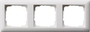 Gira 021304 Abdeckrahmen 3fach Standard 55 Reinweiß matt