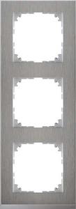 Merten Decor-Rahmen 3-fach Edelstahl/aluminium MEG4030-3646